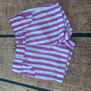 Other - Toddler girl shorts 24M purple/ white striped NEW